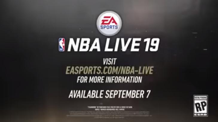 NBA Live 19 chegando no início de setembro para PS4, Xbox One