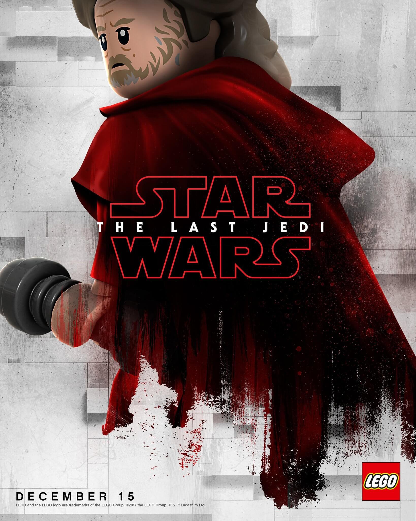Star Wars: Os Últimos Jedi agora em cartazes na versão LEGO