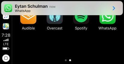 Whatsapp recebe atualização e é possivel usar no painel do carro