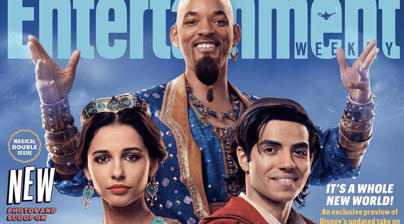 Aladdin | Atores estampam capa de revista com os visuais do filme
