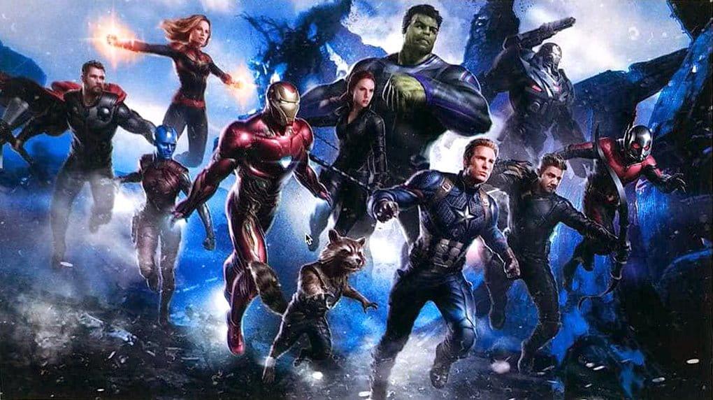 Vingadores 4: Arte vazada mostra Capitã Marvel com os Vingadores