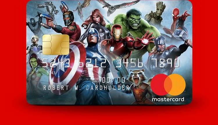 MasterCard lança cartões de crédito da Marvel