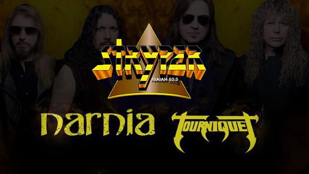 Stryper, Tourniquet e Narnia estarão juntos em turnê pelo Brasil