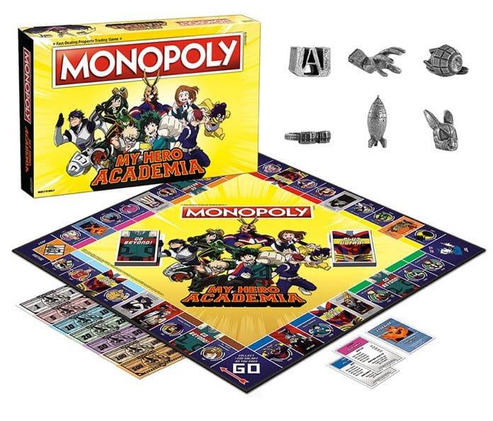 Monopoly obtém uma edição especial de My Hero Academia