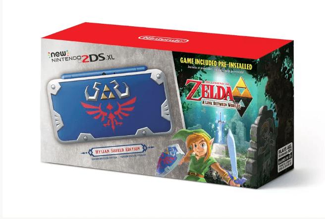 Nintendo lança o Zelda Nintendo 2DS com tema do escudo de Hylian