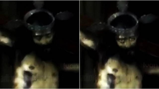 Vídeo assombroso: Estátua de Jesus Cristo abre os olhos em igreja no México