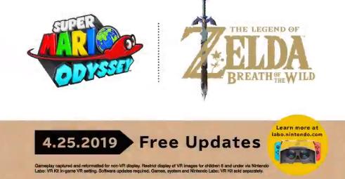 Nintendo adiciona suporte a VR para Zelda: Breath of the Wild e Super Mario Odyssey