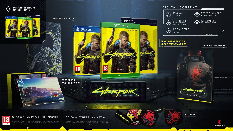 Edição básica de Cyberpunk 2077 terá conteúdo bônus