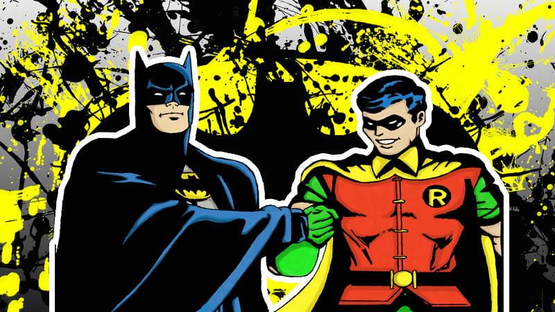 Batman e Robin, um filho adotado e um parceiro