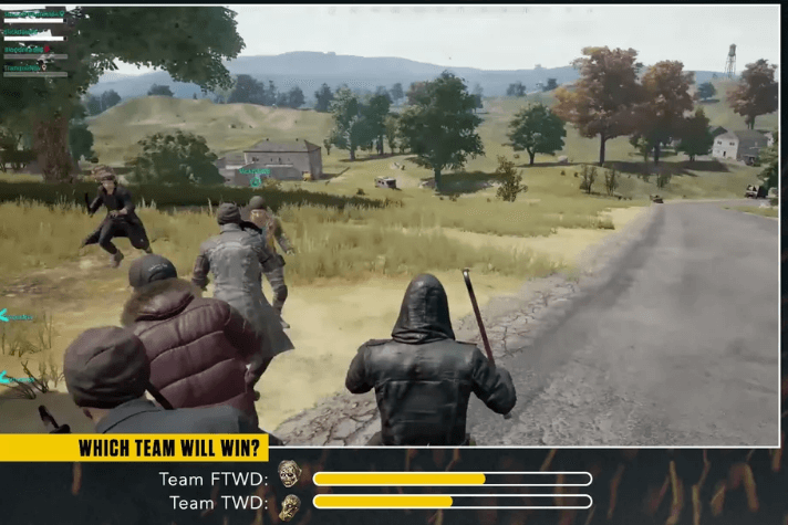 The Walking Dead se junta a flâmulas do Twitch para torneio PUBG de quatro horas