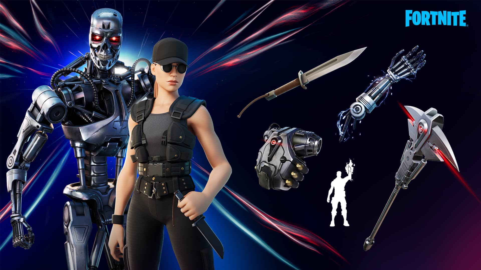 Fortnite ganha skins de Exterminador do Futuro e Sarah Connor