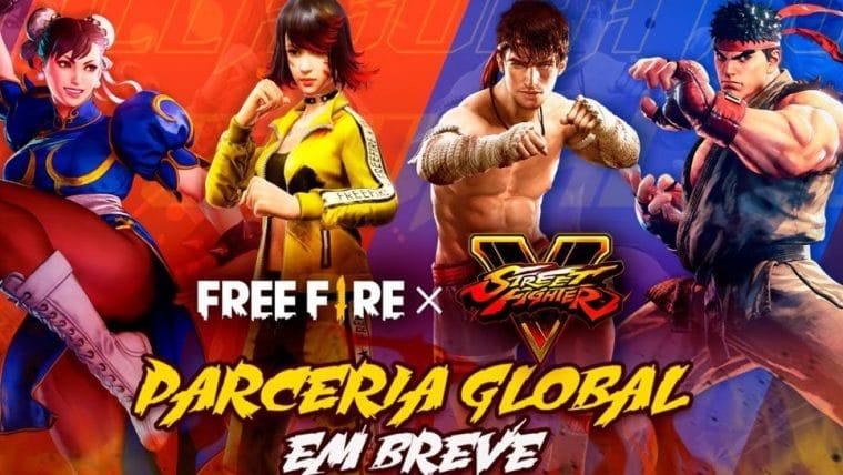 Free Fire faz parceria com Capcom e Ryu e Chun-Li estarão no jogo