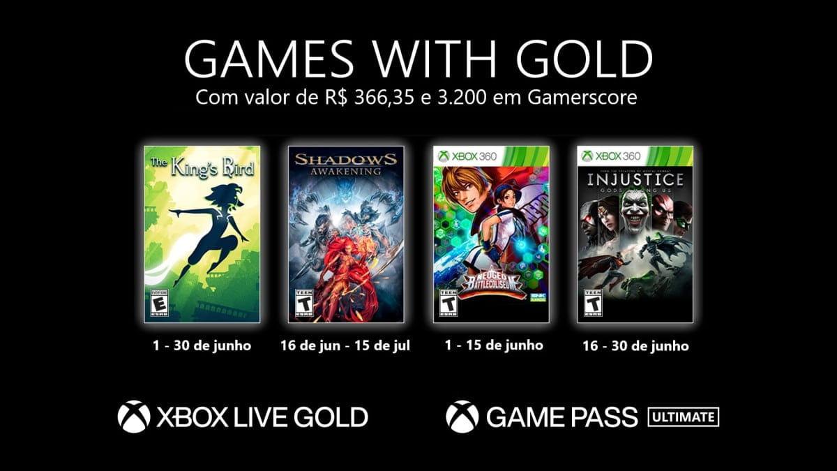 Games with Gold de junho conta com Injustice e muito mais