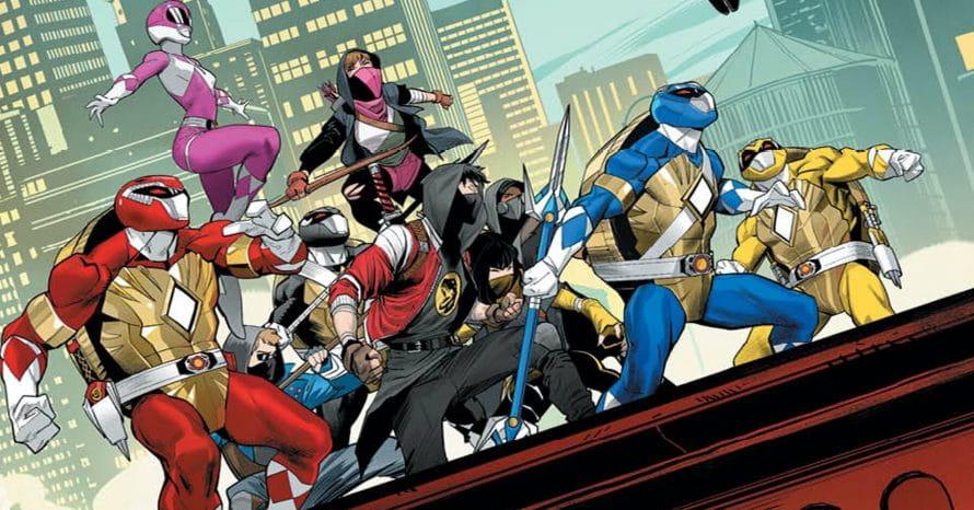 HQ crossover de Tartatugas Ninja e Power Rangers revela o Tartarugazord
