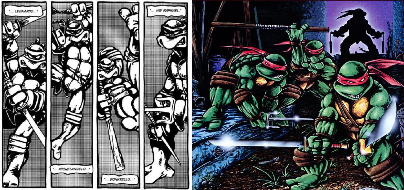 HQs clássicas de Tartarugas Ninja chegam ao Brasil pela primeira vez