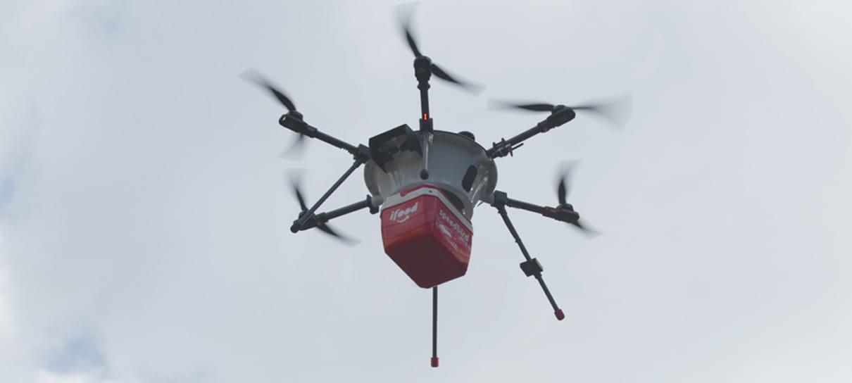 iFood fará testes com drones, em Campinas, para otimizar entregas
