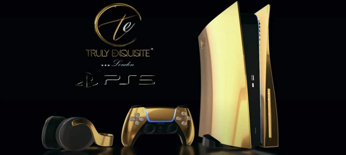 PlayStation 5 ganha edição banhada a ouro que custa 8 mil libras na pré-venda