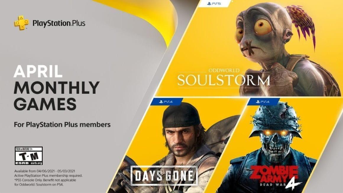 PS Plus de abril traz Oddworld, Days Gone entre outros, confira