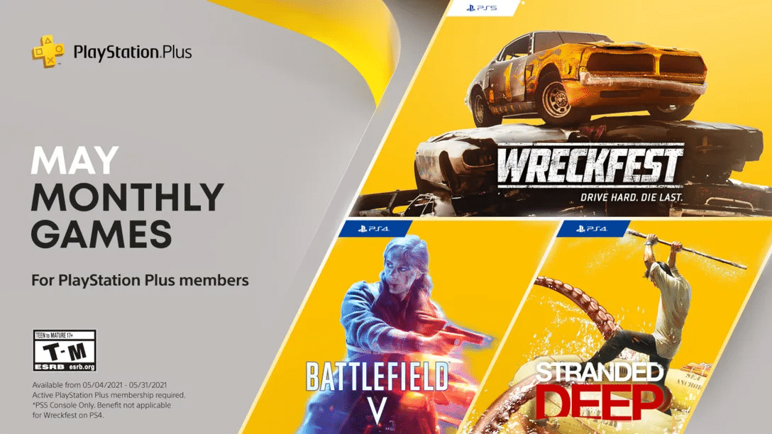 PS Plus de Maio chega com Stranded Deep, Wreckfest e Battlefield V
