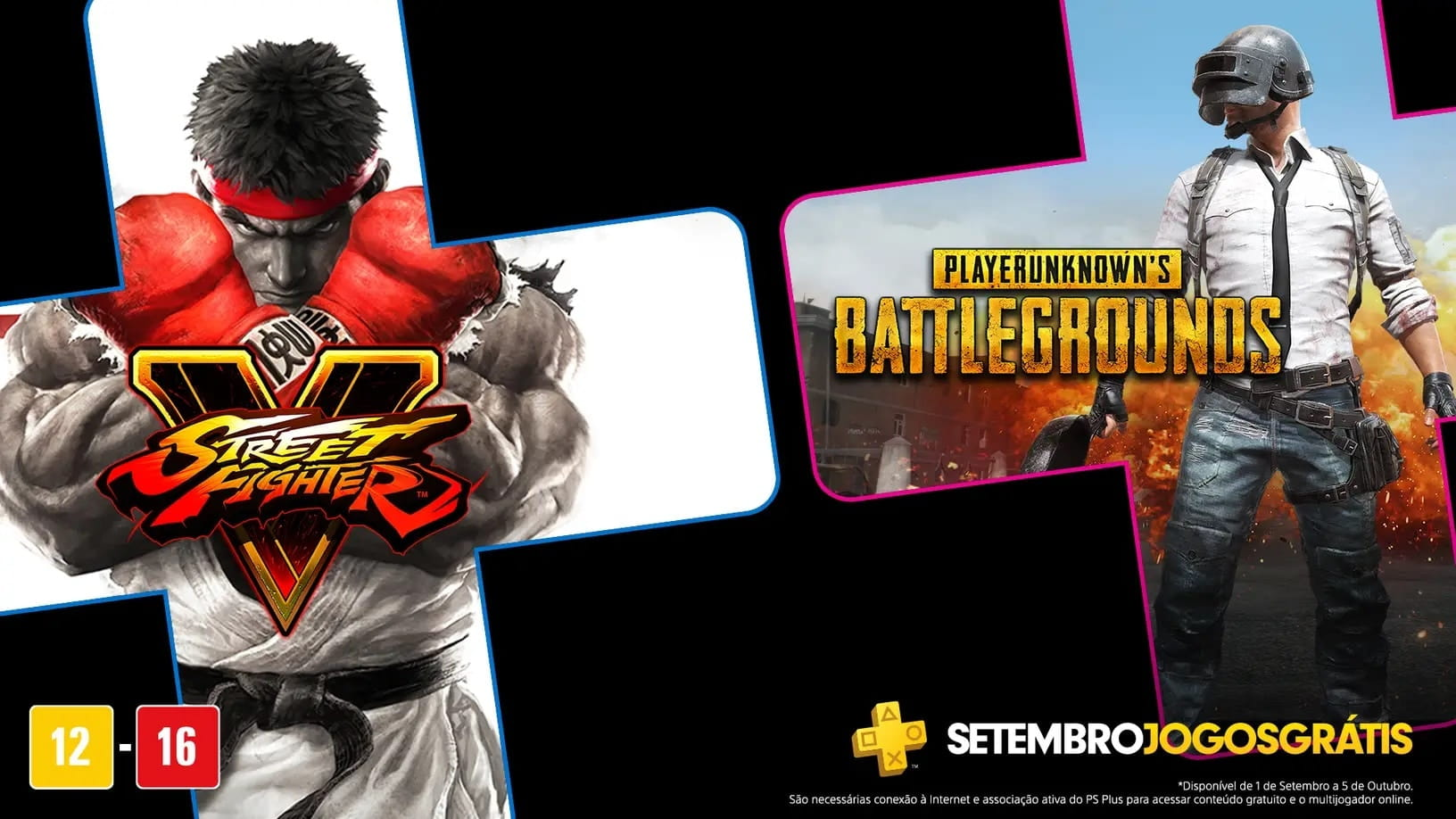 PS Plus de Setembro terá PUBG e Street Fighter V gratuitos