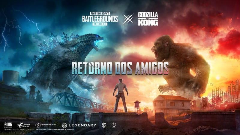PUBG MOBILE comemora 3 anos com festa e invasão de Godzilla e King Kong