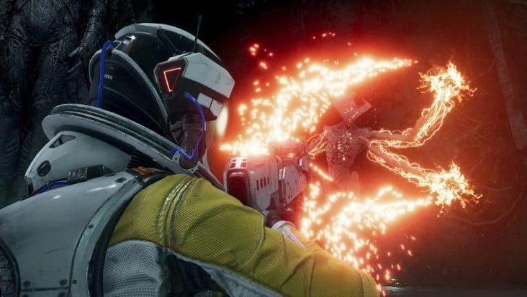 Returnal   Game ganhatTrailer de gameplay com combate a monstros