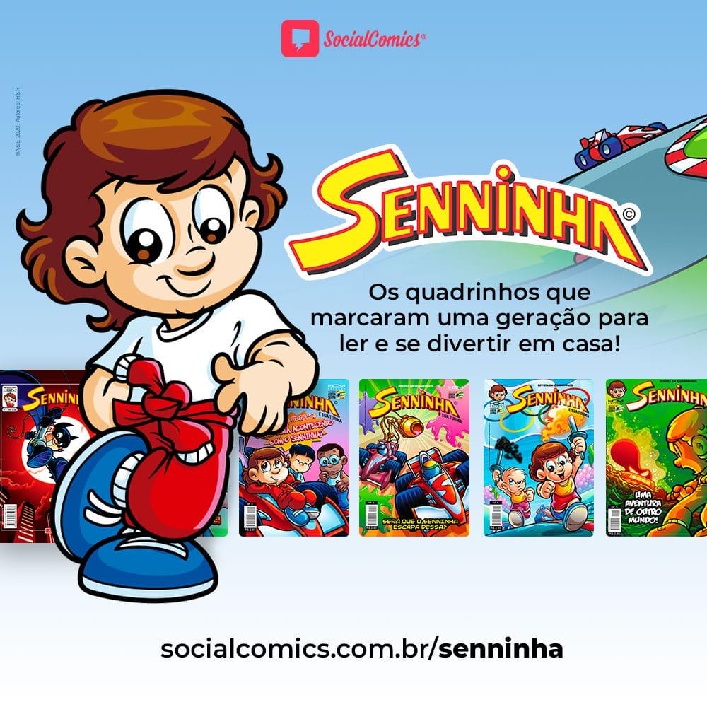 Social Comics e Senninha lançam todos os quadrinhos de graça