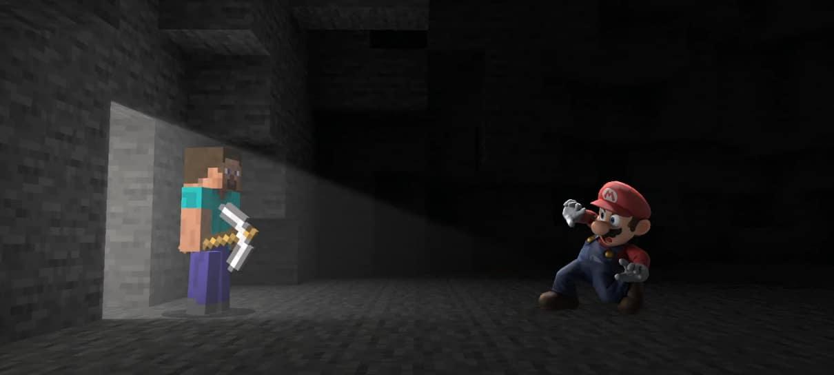 Steve, de Minecraft, é o novo participante de Super Smash Bros.