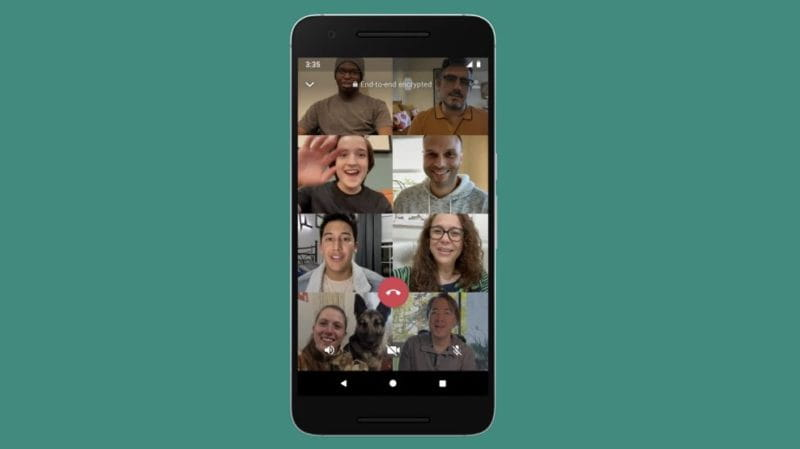 Whatsapp implementa conversa por vídeo para até oito pessoas