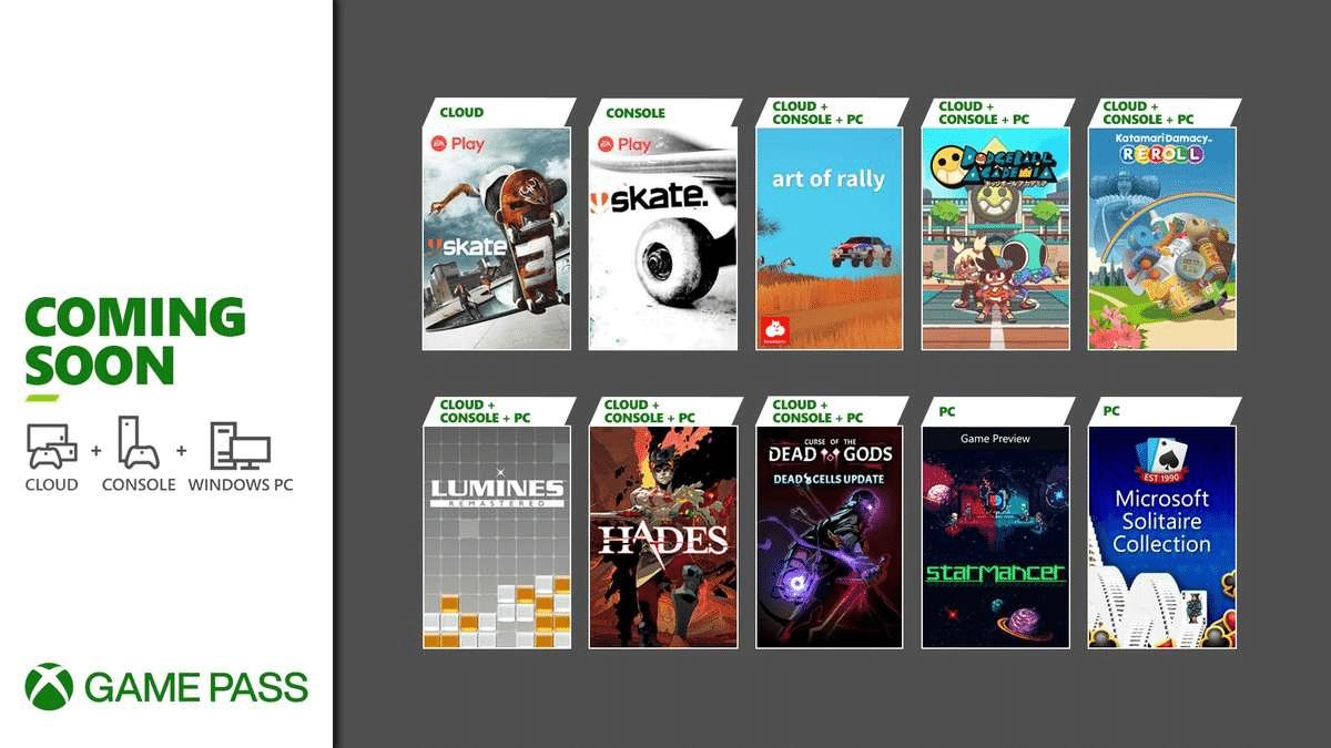Xbox Game Pass anuncia Skate, Hades e mais em Agosto