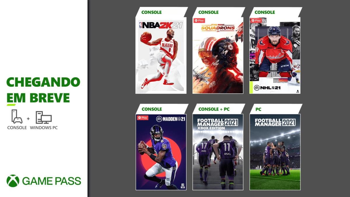 Xbox Game Pass | Microsoft anuncia chegada de Star Wars: Squadrons, NBA 2K21 e mais